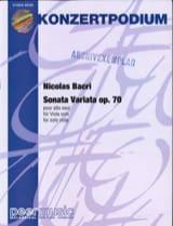 Sonata Variata op. 70 Nicolas Bacri Partition Alto - laflutedepan.com