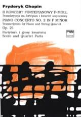 Concerto N°2 Opus 21 - Quintette - Frédéric Chopin - laflutedepan.com