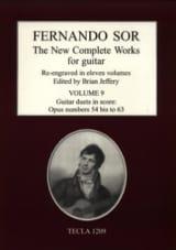 Fernando Sor - The New Complete Works, Vol. 9 - Partition - di-arezzo.fr