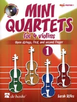 Mini-Quartets For 4 Violins Volume 1 Sarah Stiles laflutedepan.com