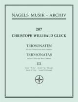 Sonates en trio n° 5 & 6 pour2 Violons et BC GLUCK laflutedepan