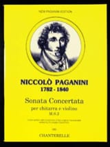 Niccolò Paganini - Sonata Concertata - Partition - di-arezzo.fr