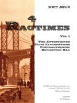 Scott Joplin - 4 Ragtimes - Volume 1 –Flöte Gitarre - Partition - di-arezzo.fr