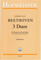 BEETHOVEN - 3 Duos - Sheet Music - di-arezzo.co.uk