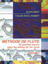 BIGET - JOUBERT - Volume 2 Flute Method - Sheet Music - di-arezzo.co.uk