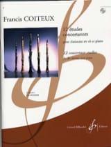 12 Etudes Concertantes Francis Coiteux Partition laflutedepan.com