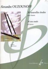 36 Nouvelles Etudes volume 1 Alexandre Ouzounoff laflutedepan.com