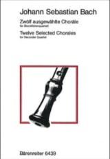 12 Selected Chorales BACH Partition Flûte à bec - laflutedepan