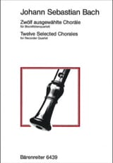 Johann Sebastian Bach - 12 Selected Chorales - Partition - di-arezzo.fr