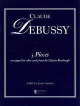 5 Pieces DEBUSSY Partition Hautbois - laflutedepan.com