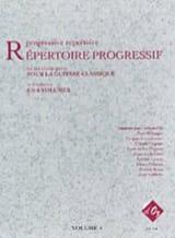 Répertoire Progressif Volume 4 Partition Guitare - laflutedepan.com