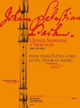 Johann Sebastian Bach - Quinze Sinfonias A Trois 3 Volume 1 (Bwv 787-801) - Partition - di-arezzo.fr