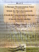 A Baroque Ornementation Tutor For Recorder Janos Bali laflutedepan.com