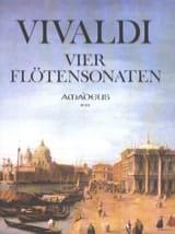 4 Sonaten - Flûte et Bc VIVALDI Partition laflutedepan.com