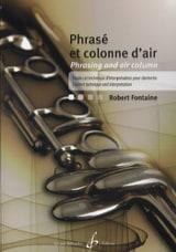 Phrasé et Colonne D'air Robert Fontaine Partition laflutedepan.com