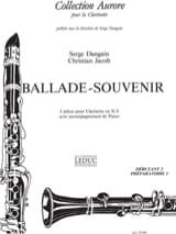 Dangain Serge / Jacob Christian - Ballade / Souvenir - Sheet Music - di-arezzo.com