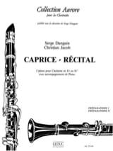 Dangain Serge / Jacob Christian - Caprice - Récital - Partition - di-arezzo.fr