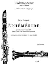 Ephéméride - Serge Dangain - Partition - Clarinette - laflutedepan.com