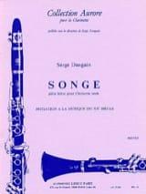 Songe - Serge Dangain - Partition - Clarinette - laflutedepan.com