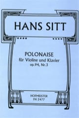 Hans Sitt - Polish Op.94 N ° 3 - Sheet Music - di-arezzo.co.uk