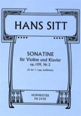 Sonatine Op.109 N°2 Hans Sitt Partition Violon - laflutedepan.com