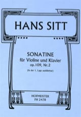 Hans Sitt - Sonatine Op.109 N°2 - Partition - di-arezzo.fr