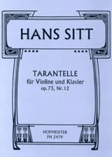 Hans Sitt - Tarantella Op.73 N ° 12 - Sheet Music - di-arezzo.co.uk