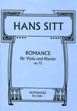 Hans Sitt - Romance Op.72 - Sheet Music - di-arezzo.co.uk