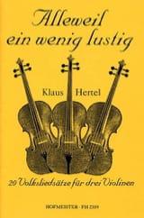 Alleweil Ein Wenig Lustig Klaus Hertel Partition laflutedepan.com