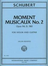 Moment Musicaux N°2 Op.94 - D.780 SCHUBERT Partition laflutedepan.com