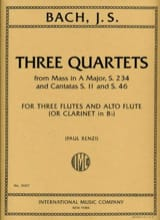 BACH - 3 Quartets - Partition - di-arezzo.fr