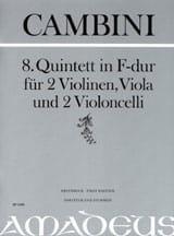 Quintette Nr. 8 En Fa Maj. - Giuseppe Maria Cambini - laflutedepan.com