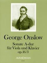 Georges Onslow - Sonate Op.16 N°3 En la Maj. - Partition - di-arezzo.fr