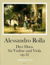 Alessandro Rolla - 3 Duos Op.12 - Partition - di-arezzo.fr