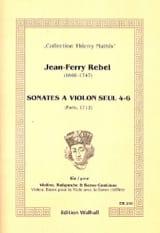 Jean-Fery Rebel - Sonates à Violon Seul mellées de plusieurs récits pour la viole - 4 à 6 - Partition - di-arezzo.fr