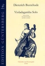 Dietrich Buxtehude - Violadagamba Solo - Partition - di-arezzo.fr
