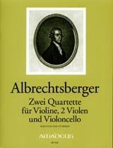 Johann Georg Albrechtsberger - 2 Quatuors Op. 20 N° 3 et 4 - Partition - di-arezzo.fr