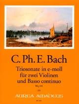 Carl Philipp Emanuel Bach - Triosonate En Mi Mineur Wq 155 - Partition - di-arezzo.fr
