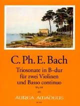 Carl Philipp Emanuel Bach - Triosonate en sib majeur Wq 158 - Partition - di-arezzo.fr