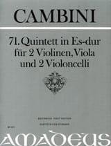 Quintette Nr. 71 En Mib Maj. Giuseppe Maria Cambini laflutedepan.com