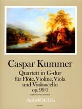 Gaspard Kummer - Quatuor En Sol Maj. Op. 99 N°1 - Partition - di-arezzo.fr