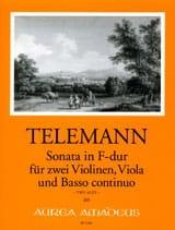 Georg Philipp Telemann - Sonate En Fa Maj. Twv43 : F3 - Partition - di-arezzo.fr