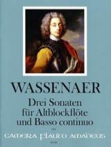 3 Sonates Unico Wilhelm Van Wassenaer Partition laflutedepan.com