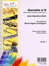 BACH - Gavotte n ° 2 - Sheet Music - di-arezzo.co.uk