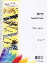 Aria Pascal Proust Partition Violon - laflutedepan.com