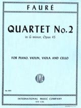 Gabriel Fauré - Quartet With Piano N ° 2 Opus 45 In G Minor - Sheet Music - di-arezzo.co.uk