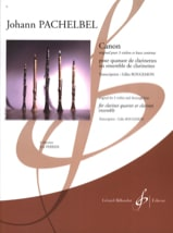 Canon Johann Pachelbel Partition Clarinette - laflutedepan.com
