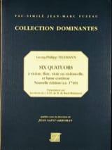 Georg Philipp Telemann - 6 Quatuors - Vl, FL, V de g, Vlc, b.c. - Partition - di-arezzo.fr