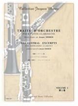 Traits D'orchestre Vol 1 Pour Petite Clarinette En Mi Bémol - laflutedepan.com