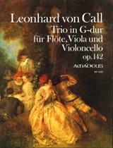 Trio Opus 142 Leonhard von Call Partition Trios - laflutedepan.com